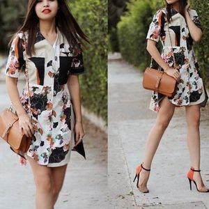3.1 Phillip Lim Target Floral Printed Shirt Dress